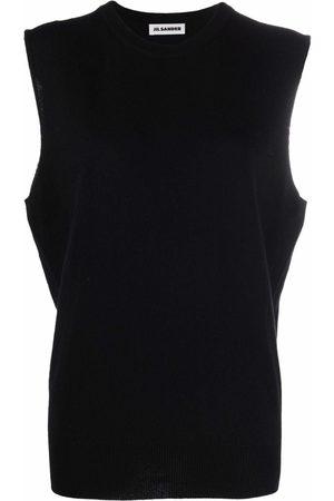 Jil Sander Women Tank Tops - Sleeveless knitted top