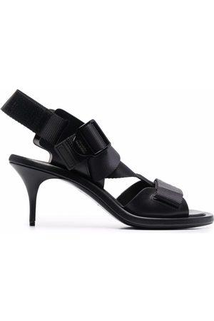 Alexander McQueen Women Sandals - Slingback buckled leather sandals