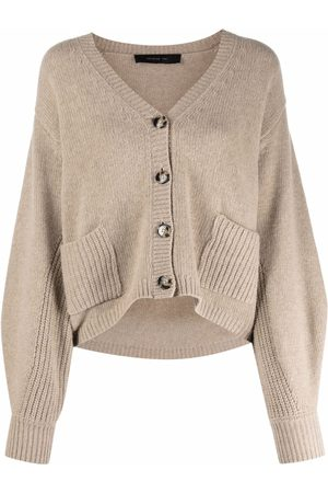 FEDERICA TOSI Women Cardigans - Ribbed-pocket cardigan
