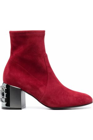 Casadei Women Ankle Boots - C-Chain suede ankle boots