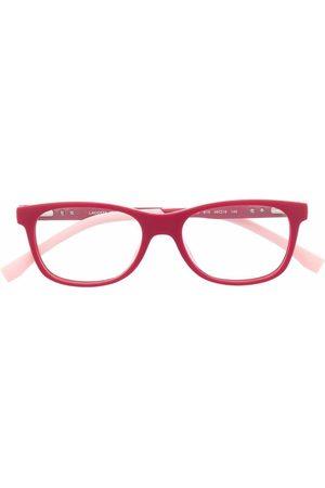 Lacoste Rectangle-frame embossed glasses