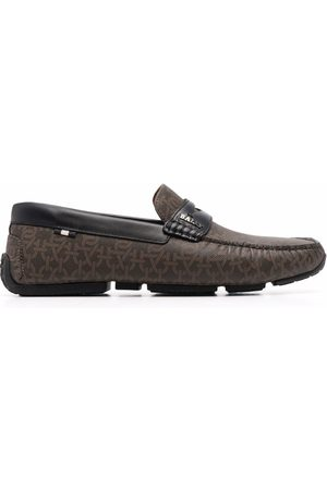 Bally Men Loafers - Chain logo-print leather loafers