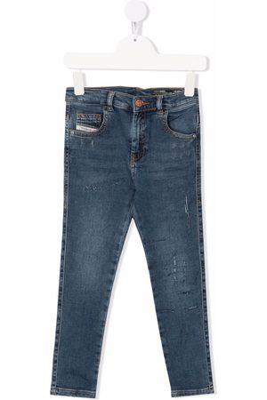 Diesel Girls Straight - Mid-rise straight-leg jeans