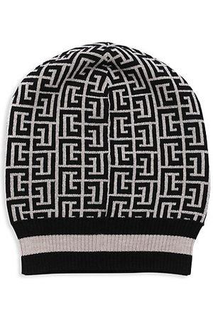 Balmain Hats - Monogram Merino Wool Toque