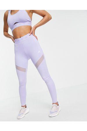 adidas Women Leggings - Adidas Training leggings with branded waistband in lilac
