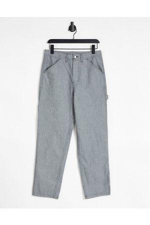ASOS Carpenter trousers in pinstripe
