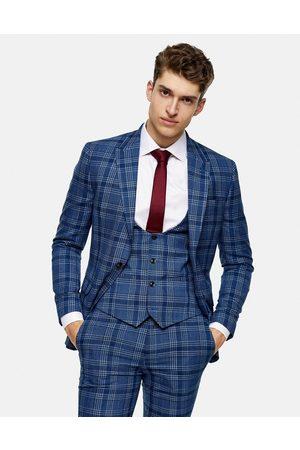 Topman Men Waistcoats - Skinny suit waistcoat in check