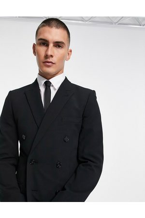 ASOS Super skinny double breasted suit jacket in