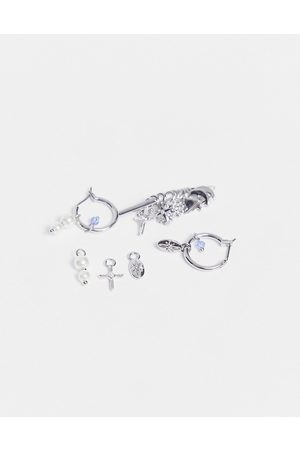 Pieces Build your own' charms hoop earrings in