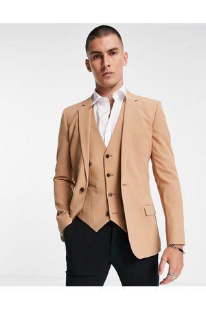 ASOS DESIGN Men Blazers - Super skinny suit jacket in camel