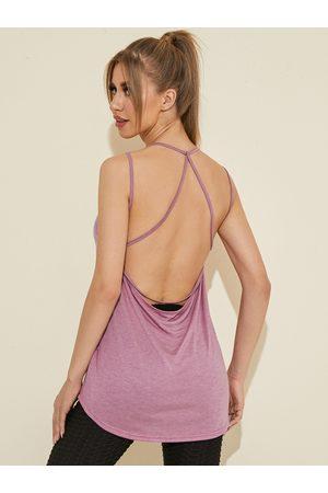 YOINS Cross Over Backless Design Scoop Neck Sports Cami