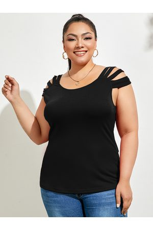 YOINS Plus Size Cut Out Sleeveless Tank Tops