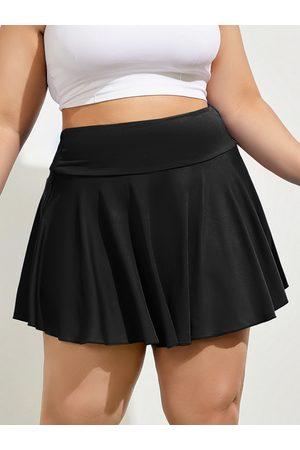YOINS Plus Size Sporty Mini Skirt