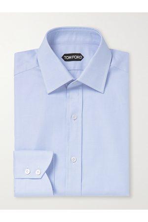 Tom Ford Men Business - Slim-Fit Houndstooth Cotton Shirt