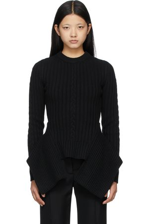Alexander McQueen Off- Engineered Cable Knit Sweater