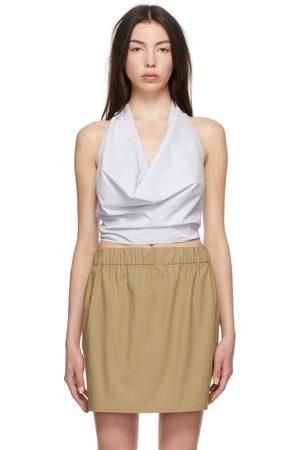 Gauchere Women Halterneck Tops - White & Blue Stripe Tobia Halter Top