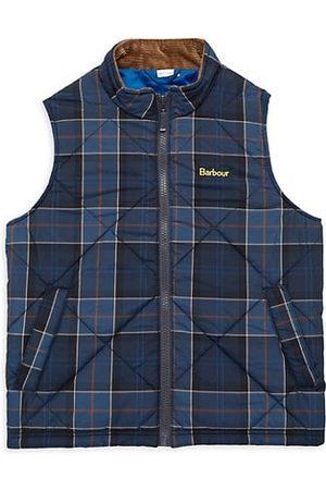 Barbour Little Boy's & Boy's Finn Plaid Quilted Vest