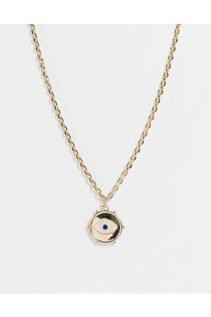 ASOS Women Necklaces - Necklace with eye coin pendant in tone