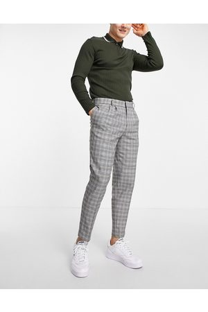 River Island Tapered smart trouser in check