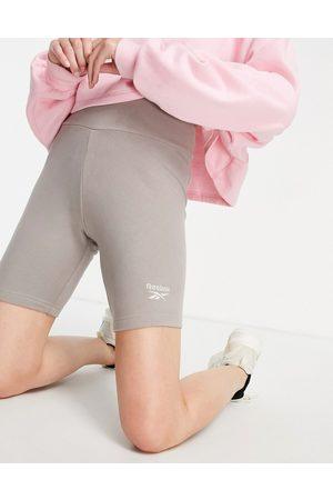 Reebok Logo legging shorts in oatmeal