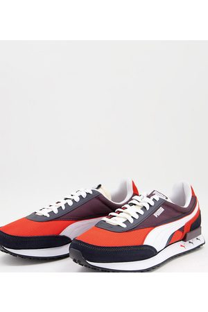 Puma Future Rider trainers in red and blue exclusive to ASOS-Multi