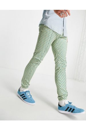 ASOS DESIGN Co-ord skinny smart jogger with pastel geo print
