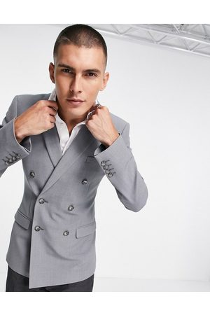 ASOS Super skinny double breasted suit jacket in mid