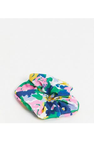 Collusion Recycled scrunchie in 80s floral print-Multi