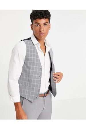 Topman Skinny suit waistcoat in check