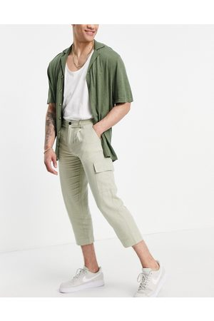 ASOS DESIGN Men Sets - Co-ord tapered trousers in light green