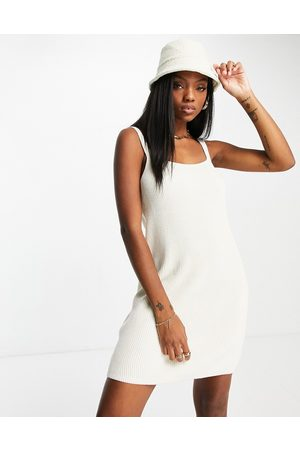 & Other Stories Women Knitted Dresses - Knitted cami mini dress in off