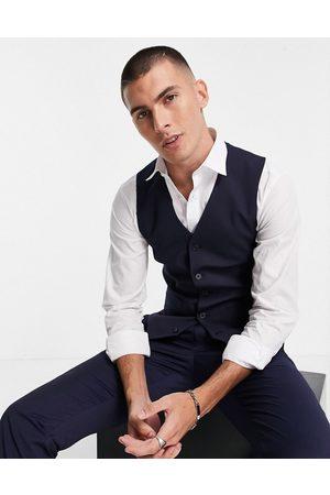 ASOS Slim waistcoat in navy