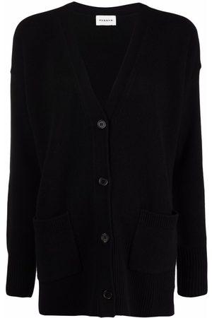 P.a.r.o.s.h. V-neck rib-trimmed cardi-coat