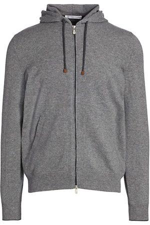 Brunello Cucinelli Cashmere Zip-Up Hoodie Sweatshirt