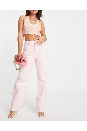 NA-KD High waisted straight leg jean in dusty
