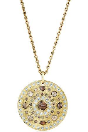 De Beers Women Necklaces - 18kt yellow Talisman Large Medal diamond pendant necklace
