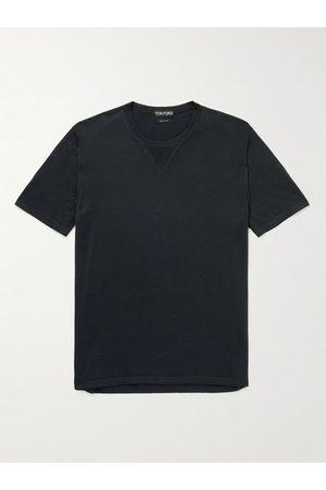 Tom Ford Men T-shirts - Silk and Cotton-Blend Jersey T-Shirt