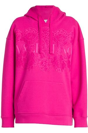VALENTINO Women Jumpers - Floral Lace & Logo Hoodie