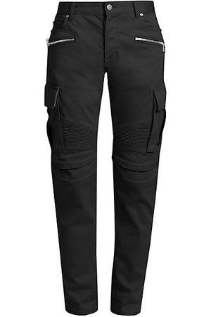 Balmain Embossed Cargo Tapered Jeans