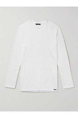 TOM FORD Men T-shirts - Stretch Cotton and Modal-Blend T-Shirt