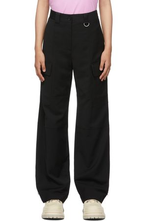 Women Cargo Pants - MSGM Loose-Fit Cargo Trousers