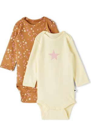 Molo Baby Off-White & Multicolor Foss Bodysuit Two-Pack
