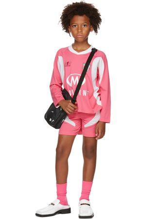 Martine Rose SSENSE Exclusive Kids & White Martine Football Top