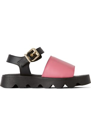 Marni Kids Leather Strap Sandals