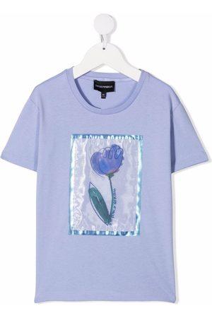 Emporio Armani Floral-print T-shirt