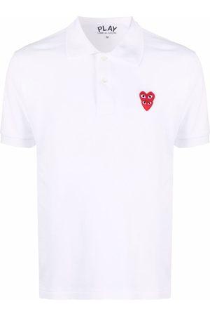 Comme des Garçons Logo-patch cotton polo shirt