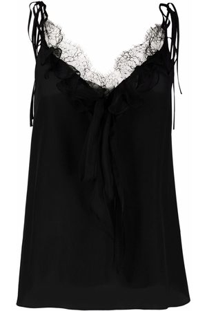 Alexander McQueen Lace-trim silk camisole