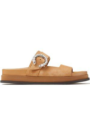Jimmy Choo Marga buckle-detail flat sandals
