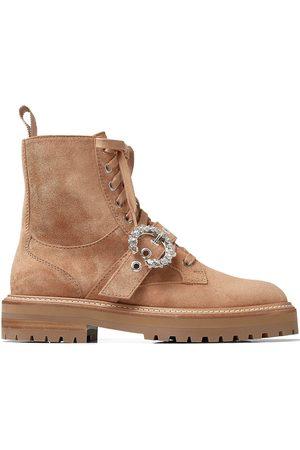 Jimmy Choo Cora crystal-buckle boots