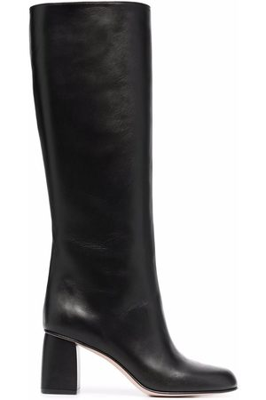 RED(V) Zip-up calf boots
